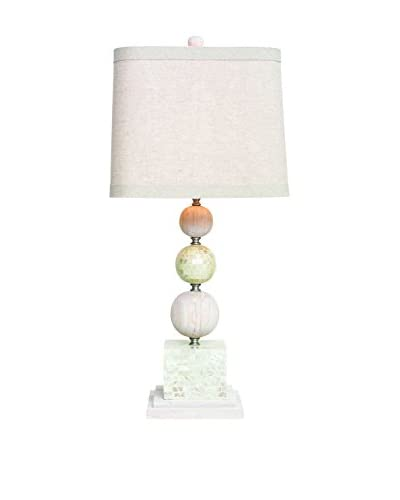 Couture Largo Table Lamp, Natural/Mother of Pearl