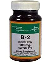 Vitamin B2 100 mg 100 Tablets by American Dietary Labs