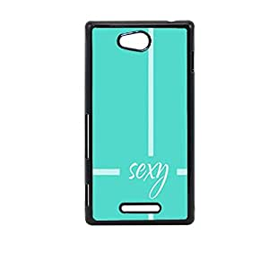 Vibhar printed case back cover for Sony Xperia C sexyteal