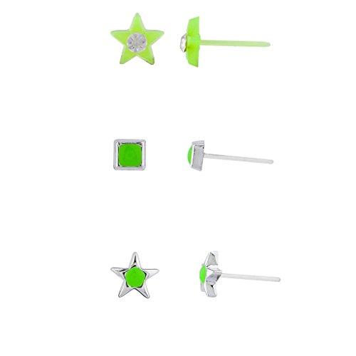 Lux accessori Glow in the Dark-Multi Orecchini Set (3pezzi)
