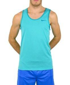 Nike Men's Ace Tank Signal Dark Grey Heather/Black/Laser Crimson Large