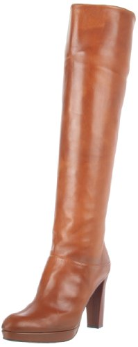 Rev Stuart Weitzman Women's Crushable Knee-High Boot, Saddle Old West Calf, 8.5 M US