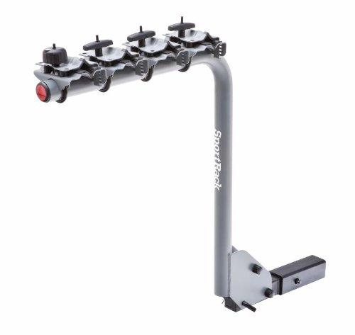 Sportrack Sr2704 4-Bike Lock And Tilt Hanging Hitch Rack, Black front-863398