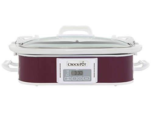 Crockpot SCCPCCP350-CR Programmable Digital Casserole Crock Slow Cooker, 3.5 quart, Plum (Slow Cookers With Carriers compare prices)