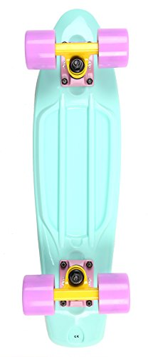 two-bare-feet-unisex-child-22-retro-plastic-cruiser-complete-skateboard-pastels-aqua-one-size