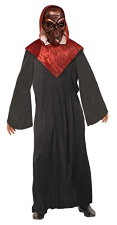 Rubie's Costume Alien Hooded Robe With Mask, Black/Red, Standard