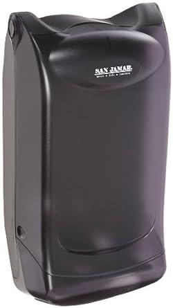 "San Jamar H5001 Venue Countertop Fullfold Classic Napkin Dispenser, 550 Capacity, 8"" Width x 7-1/4"" Height x 15-3/4"" Depth, Black Pearl"