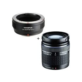 Olympus 40-150mm f/4.0-5.6 ED Zuiko Digital Lens with  MMF-2 Micro Four Thirds Lens Adapter
