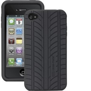 Case-Mate Apple iPhone 4 Vroom Silicone Case Tire BLACK
