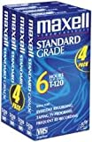 Maxell STD-T-120 Video VHS, 4 Pack
