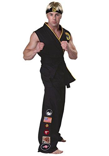 [Authentic Karate Kid Cobra Kai Costume - S] (Authentic Cobra Kai Costume)