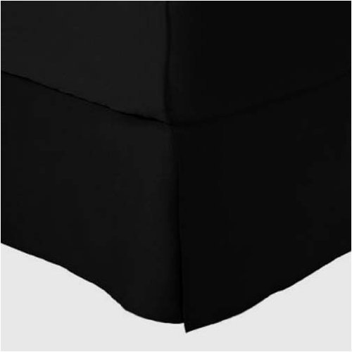 Marrikas (Tm) 1500 Class Microfiber Twin Extra Long Bed Skirt Solid Black front-972014