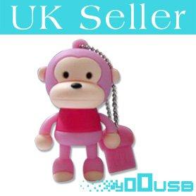 8GB Novelty Cartoon Cute Pink Monkey USB Flash Key Pen Drive Memory Stick Gift UK from YooUSB