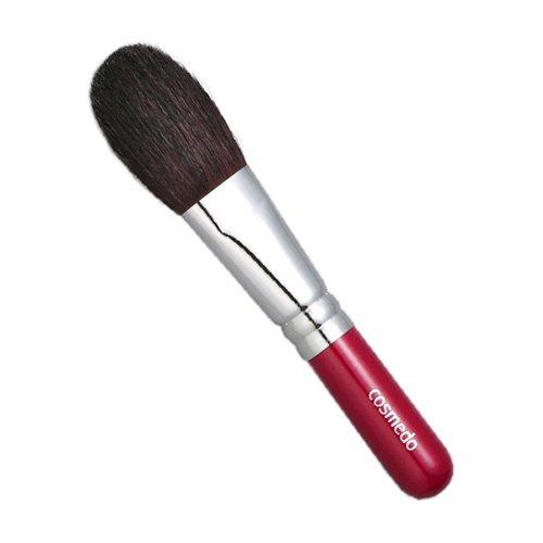 匠の化粧筆コスメ堂 熊野筆メイクブラシ ショートタイプ 馬毛100%チークブラシ・平筆タイプ