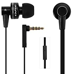 ORCUS Basics AWEI ES-900i Super Bass 3.5MM Stereo Earphone with Microphone for iPhone 6 & 6 Plus, iPhone 5 & 5S & 5C, Samsung Galaxy & Other Phones - Black