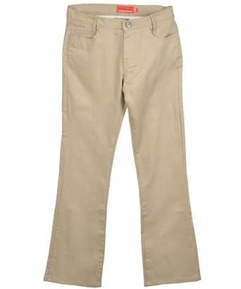 No Fuze Big Girls' Basic Twill Skinny Pants - khaki, 10