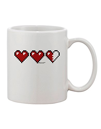Tooloud Couples Pixel Heart Life Bar - Left Printed 11Oz Coffee Mug