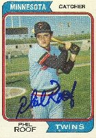 Phil Roof Minnesota Twins 1974 Topps Autographed Hand Signed Trading Card. by Hall+of+Fame+Memorabilia