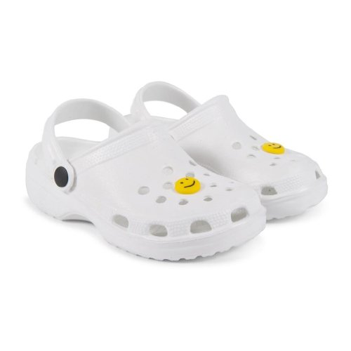 Crocs Style Unisex-Kids, Boys/Girls Classic Le First Edition Backstrap Sandal Beach Clog Mule (UK Junior 10, White)