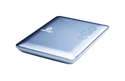 Iomega eGo Portable Compact Hard Drive - Hard drive - 1 TB - external - Hi-Speed USB - silver from Iomega