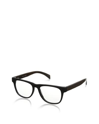 Ivory + Mason Men's Arden Eyeglasses, Matte Black/Walnut
