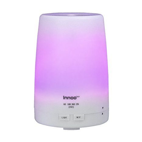 Innoo Tech Essential Oil Diffuser 300ml | The 3rd Version Aromatherapy Diffuser & Humidifier Cool Mist | Long Lasting with 4 Timer Settings & 7 Color LED Lights for Bedroom, SPA, Office (Philip Baby Food compare prices)