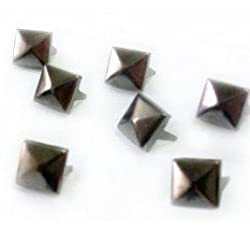 Approx. 100pcs Alloy Pyramid Studs Available In Different Colors & Sizes--Great for Any DIY Leathercraft Project, Like Velts, Handbags, Bracelets, Jackets, or Any Type of Apparel Item by MAKS