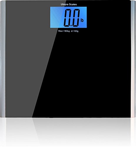 Wide Platform Digital Body Weight Bathroom Scale (400 lbs, 4.3