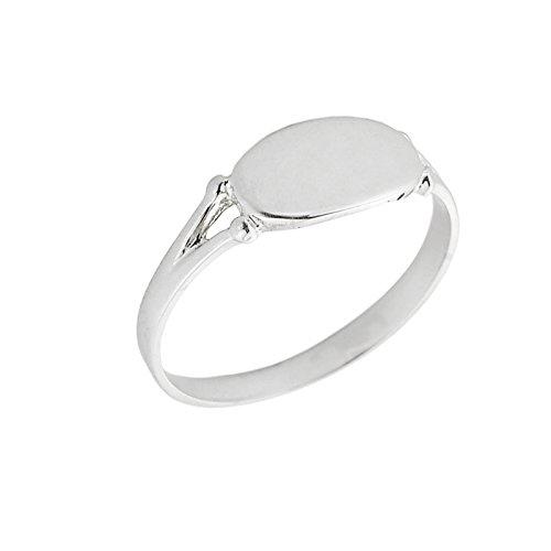 Kleine Schätze – Damen Ring / Verlobungsring / partnerring 14 Karat Weißgold Gravierbare Signet Siegelring Ring jetzt bestellen