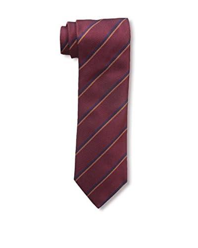 Ermenegildo Zegna Men's Striped Tie, Red