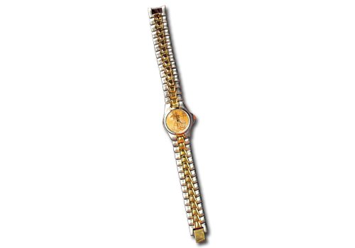 Women's Two-Tone Watch with St. Gaudens $20 Gold Piece Replica