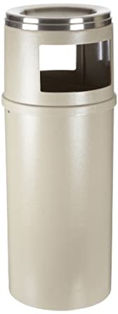Rubbermaid Commercial Classic Ash/Trash Can with Doors, Round