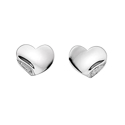 Hot Diamonds Simply Sparkle Heart Stud Earrings