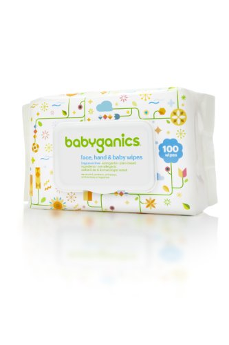 Babyganics Face, Hand & Baby Wipes, Fragrance Free, 100 Count  (Pack of 3), Packaging May Vary