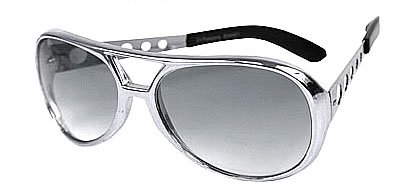 Silver Elvis Glasses - Silver