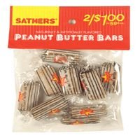 Sathers Peanut Butter Bars, 2.25 Oz Bag, 12 ea