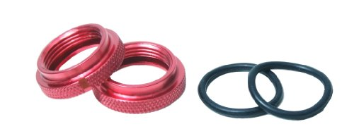 JQ Products B259 Rideheight Adjustment Nut for Silk Shocks and O-Ring, Red (2) - 1