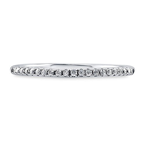 BERRICLE Sterling Silver Cubic Zirconia CZ Wedding Bridal