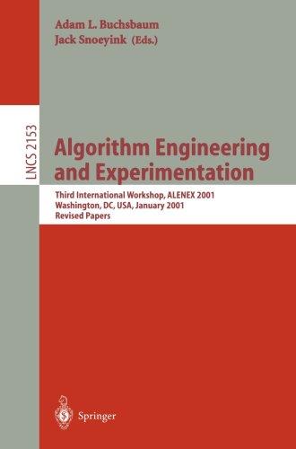 Algorithm Engineering and Experimentation, 3 conf., ALENEX 2001