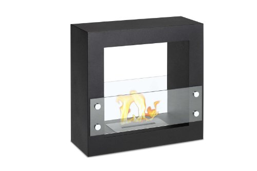 Ignis Tectum Mini Black Freestanding Ventless Ethanol Fireplace photo B00EHWAD4A.jpg