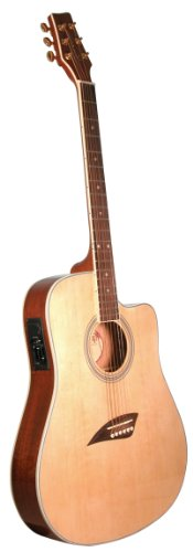 Kona K2 Acoustic Electric Dreadnought Cutaway Guitar In Natural High Gloss Finish