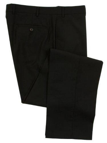Ralph Lauren Men'S Flat Front Solid Black Wool Dress Pants - Size 34 X30