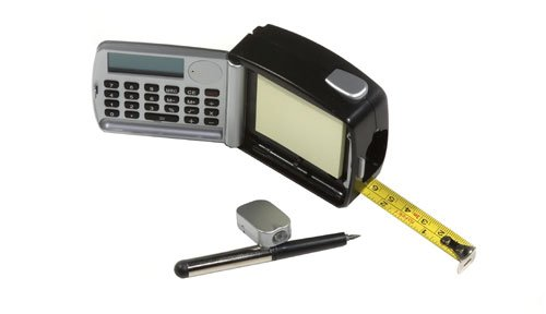 5-In-1 Multi-Function Tape Measure With Calculator, Led Light, Pencil And Notepad