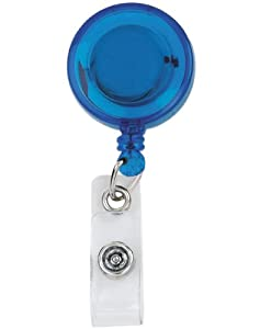 """RETRACTABLE BADGE HOLDER CORD EXTENDS TO 23"""" OCEON BUTTON DESIGN"""