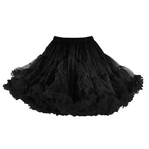 Hell Bunny Petticoat SWING SHORT black/black