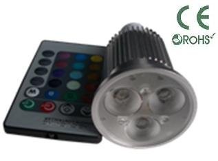 Glb E27 9 Watt Rgb Led Bulb Spotlight With Remote Control, 3X3Led Multi Color 16 Color Choices