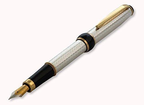 penna-stilografica-in-argento-massiccio-925-pennino-punta-media-cartucce-tipo-waterman