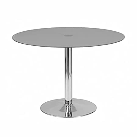 designement Ricky Table Ronde Verre Gris 110 x 110 x 75 cm