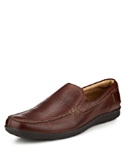 Airflex™ Comfort Leather Slip-On Perforated Shoes