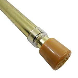 graber 3 4 round spring tension curtain rod 48 to 84 inch adjustable width brass. Black Bedroom Furniture Sets. Home Design Ideas